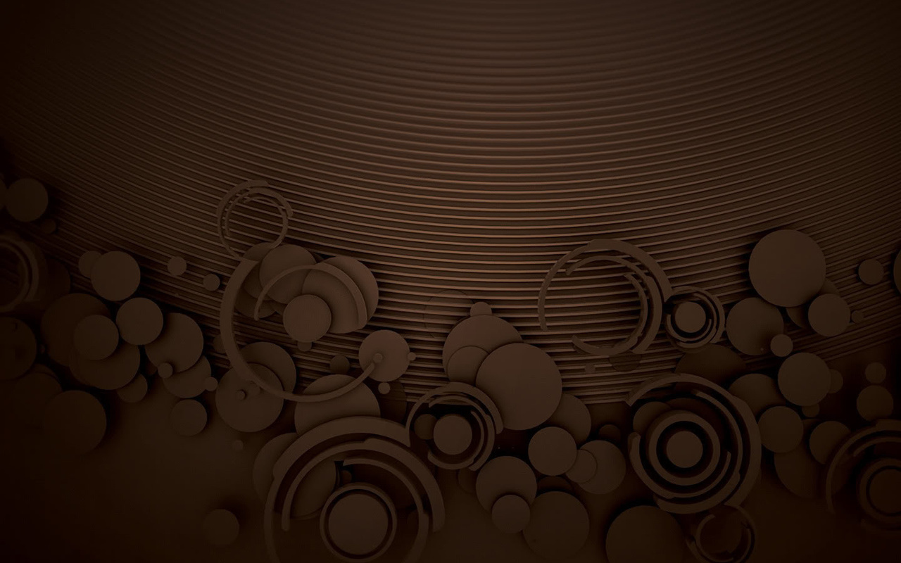 works Great chocolate circles pattern backgrounds Chocolate 1280x800