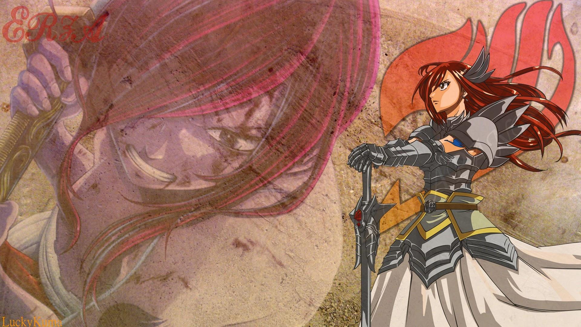 erza scarlet wallpaper hd fairy tail anime girl armor 1920x1080 a695 1920x1080