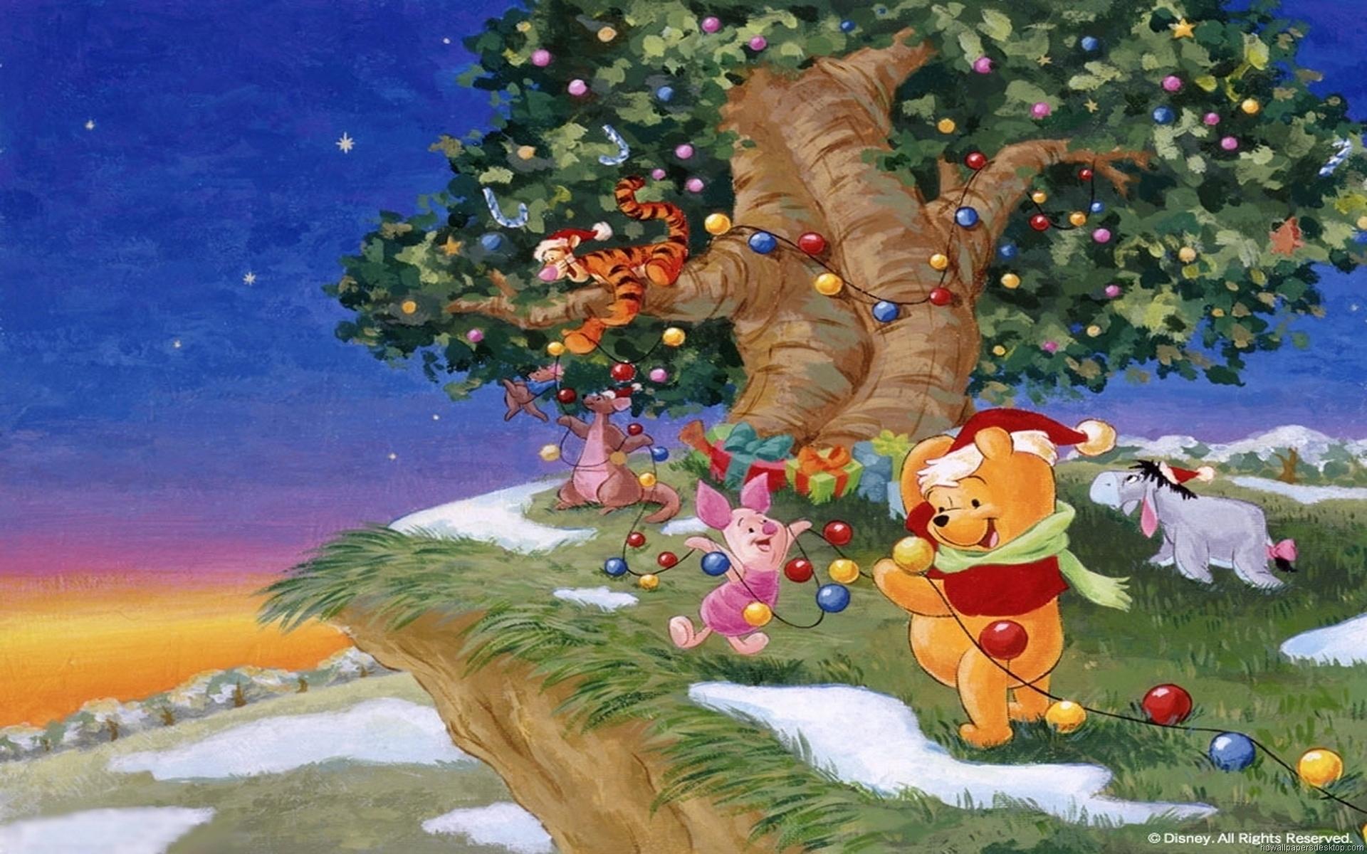 winnie the pooh christmas desktop wallpaper - weddingdressin.com
