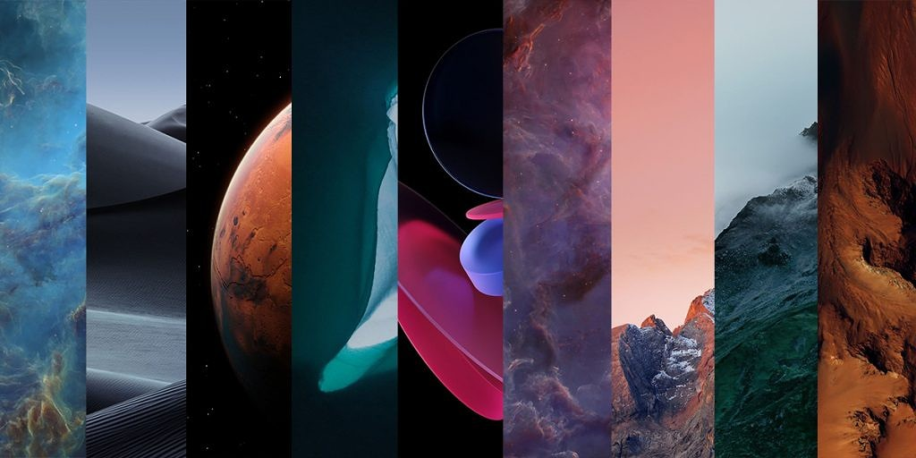 Download MIUI 12 Wallpapers and new Super Earth and Mars Live 1024x512