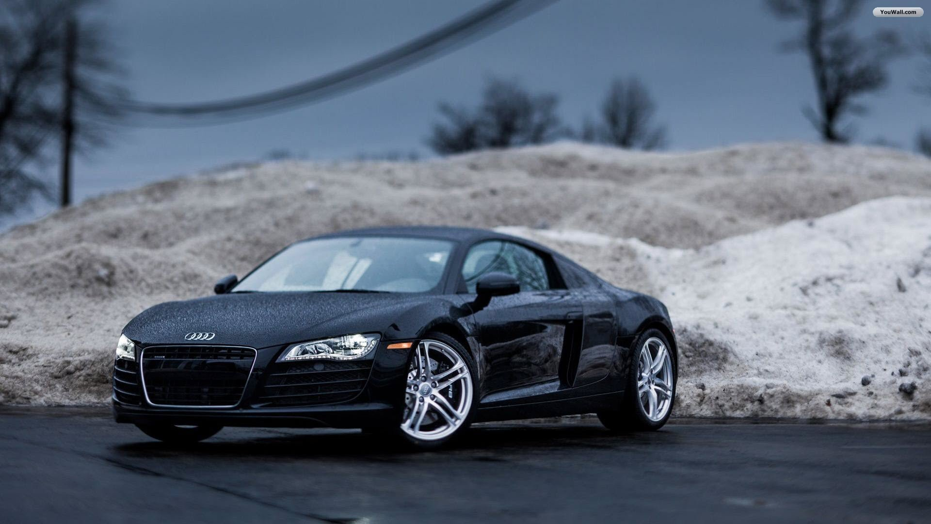 Black Audi R8 Wallpaper   wallpaperwallpapersfree wallpaper 1920x1080