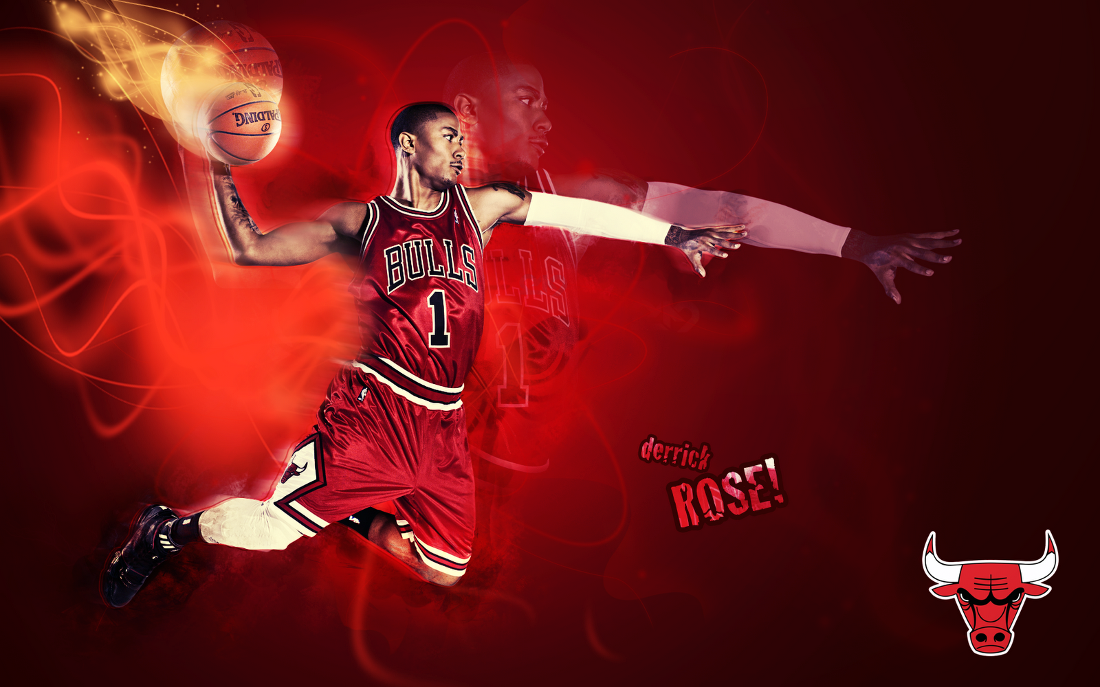 Wallpapers Derrick Rose Dunk Chicago Bulls Wallpaper 1600x1000