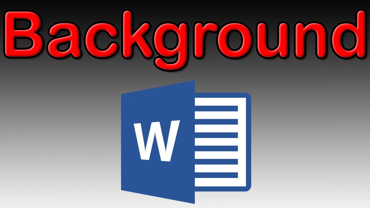 How to insert and set a background image in Word 2016   Tutorial 1280x720