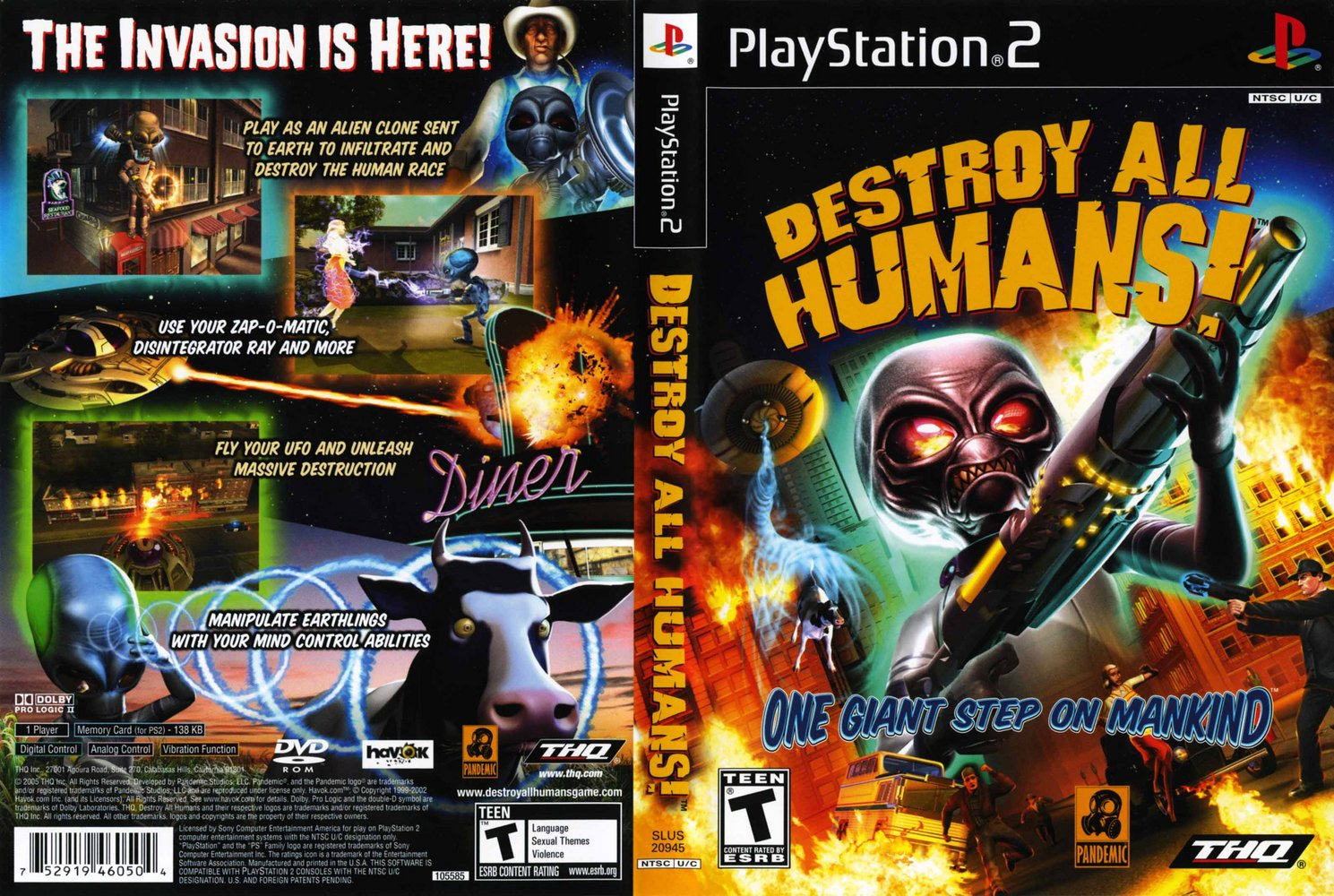 trololo blogg Destroy All Humans 2 Wallpaper 1489x1000