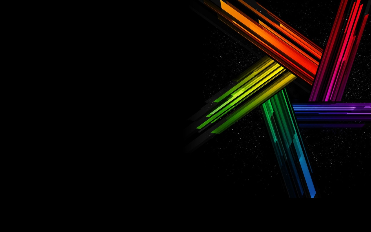 Black Blue White Yellow Striped Rainbow Wallpaper 1280x800