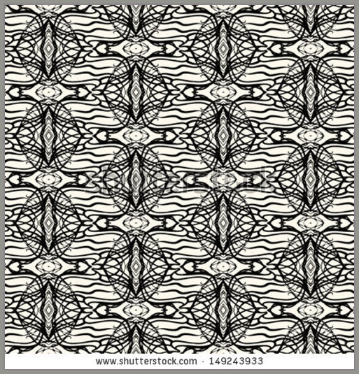 vector lacing geometric ornament in art deco style in black and white 513x535