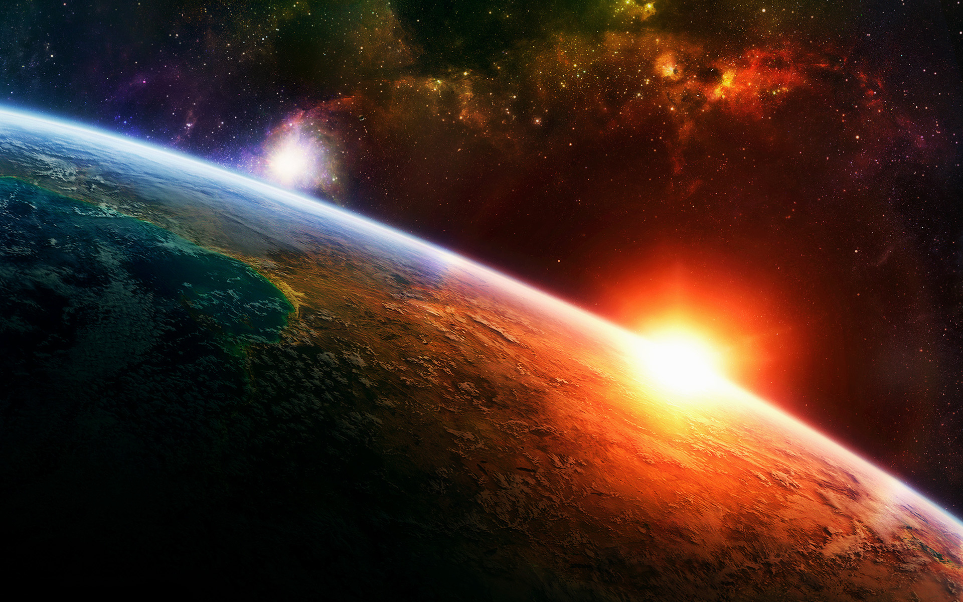 1920 x 1200 Wallpapers Widescreen Wallpapers 6028 3d space scene hd 1920x1200