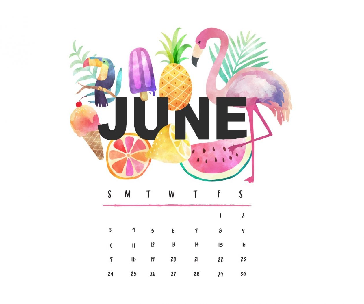 June 2018 Calendar Wallpaper   Best Calendar Printable PDF 1260x1052