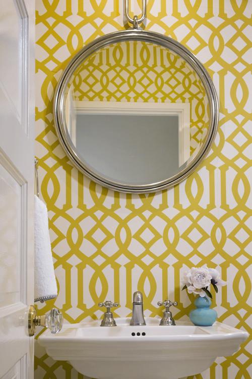 Yellow Wallpaper Graphic Modern Indianapolis Greenwood Hepburn 500x750