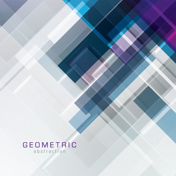 Geometric Abstraction Vector Graphic professional composition 600x600