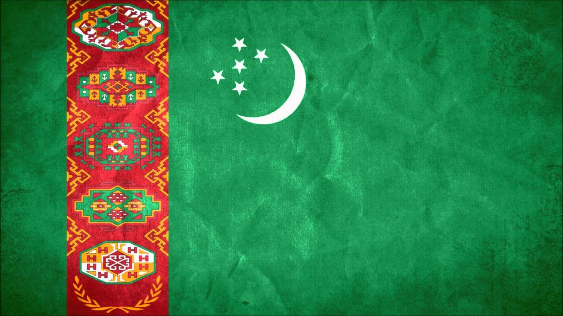 Flag of Turkmenistan wallpaper Education Flag art Flag Design 1920x1080