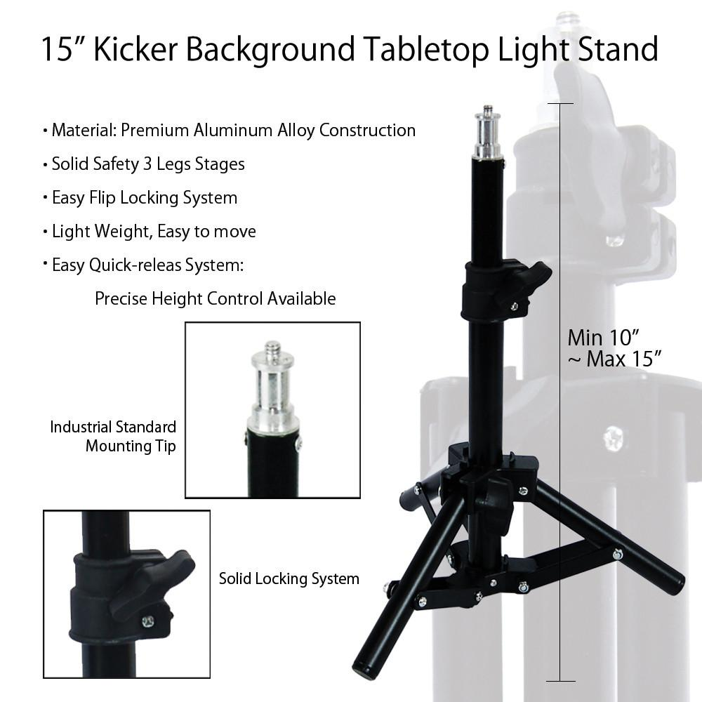 Portable Adjustable 15 Kicker Background Light Stand with Safety 1000x1000