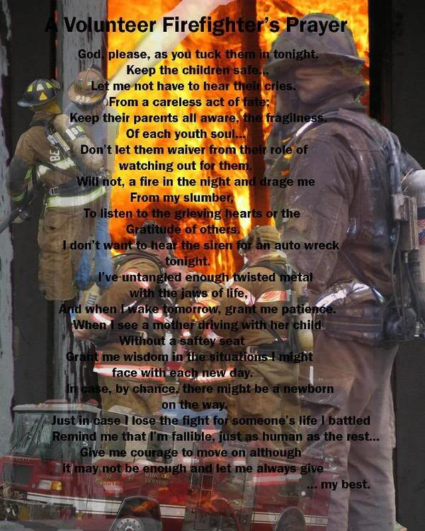 Volunteer Firefighters Prayer Volunteer firefighter prayer 600x750