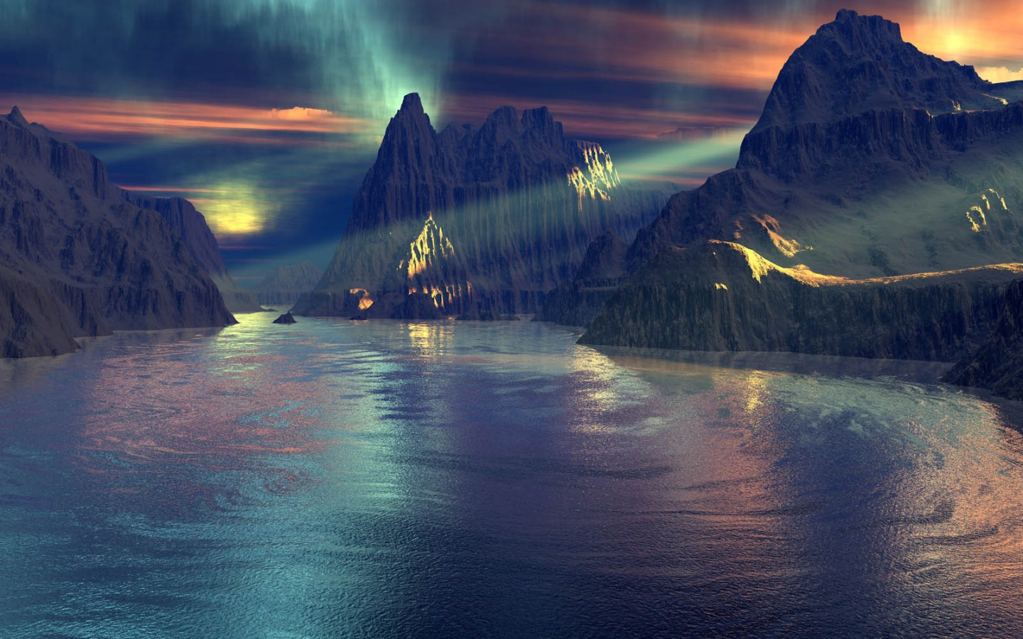 themes 3d drawed landscapes violet photogallery the 3d schedule 1440x900