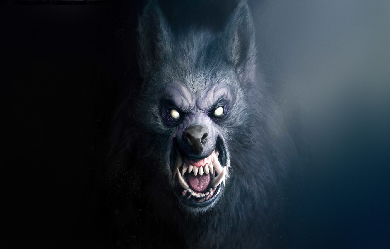 Wallpaper Dark Teeth Mouth Fangs Face Beast Werewolf Horror 1332x850