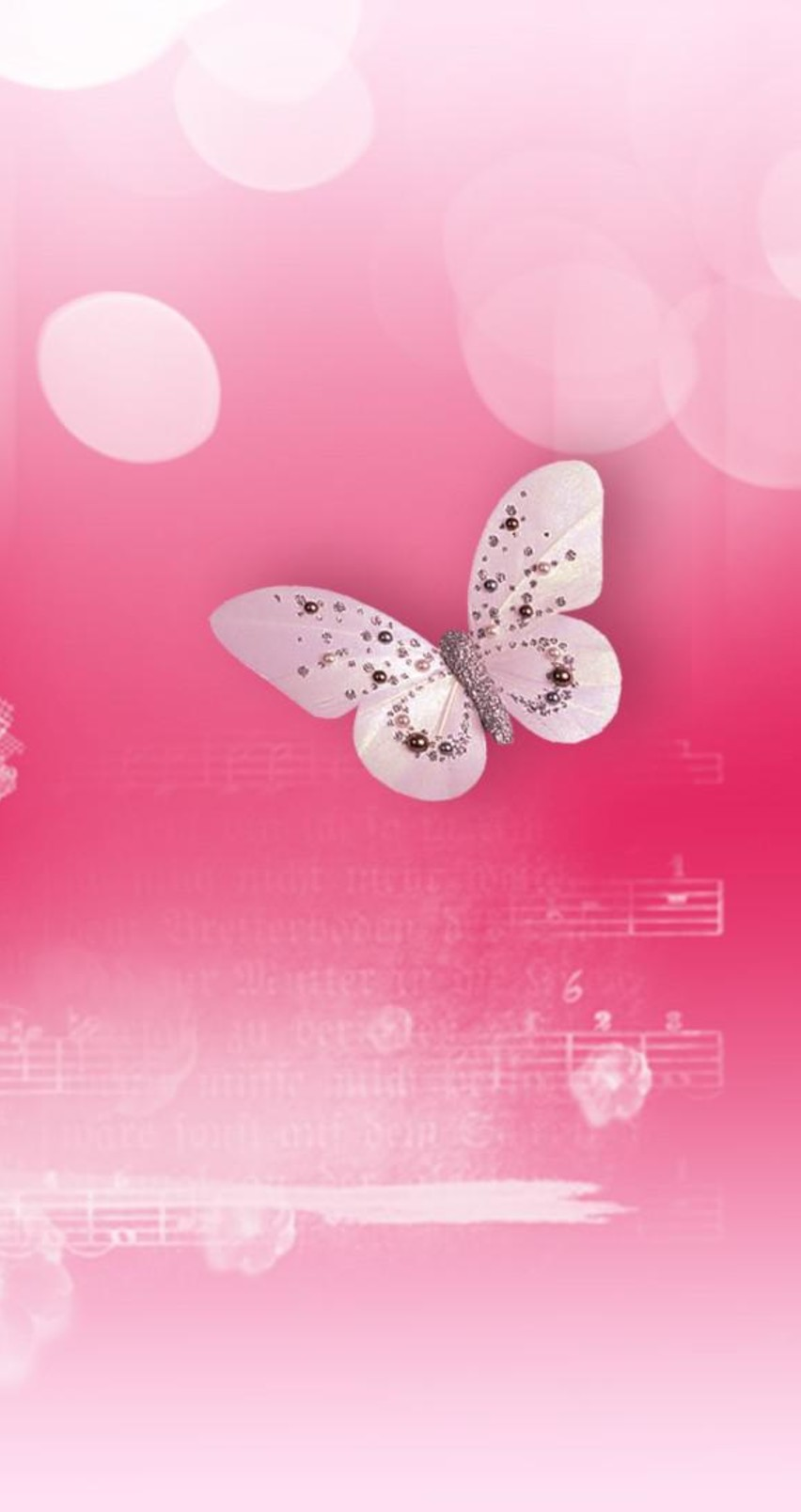 Butterfly dance on the music   HD pink wallpaper 852x1608