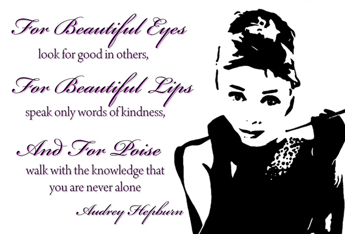 ICONS CANVAS   I19 AUDREY HEPBURN QUOTES PINK WALL ART 700x476