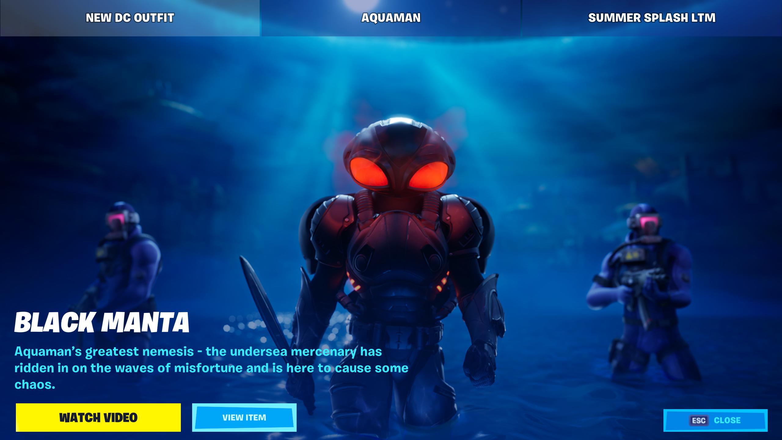Fortnite Battle Royale Adds Black Manta Aquamans Nemesis   GameSpot 2560x1440