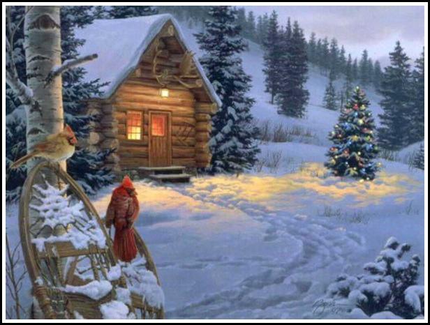 christmas snow scenes 2015   Grasscloth Wallpaper 616x466