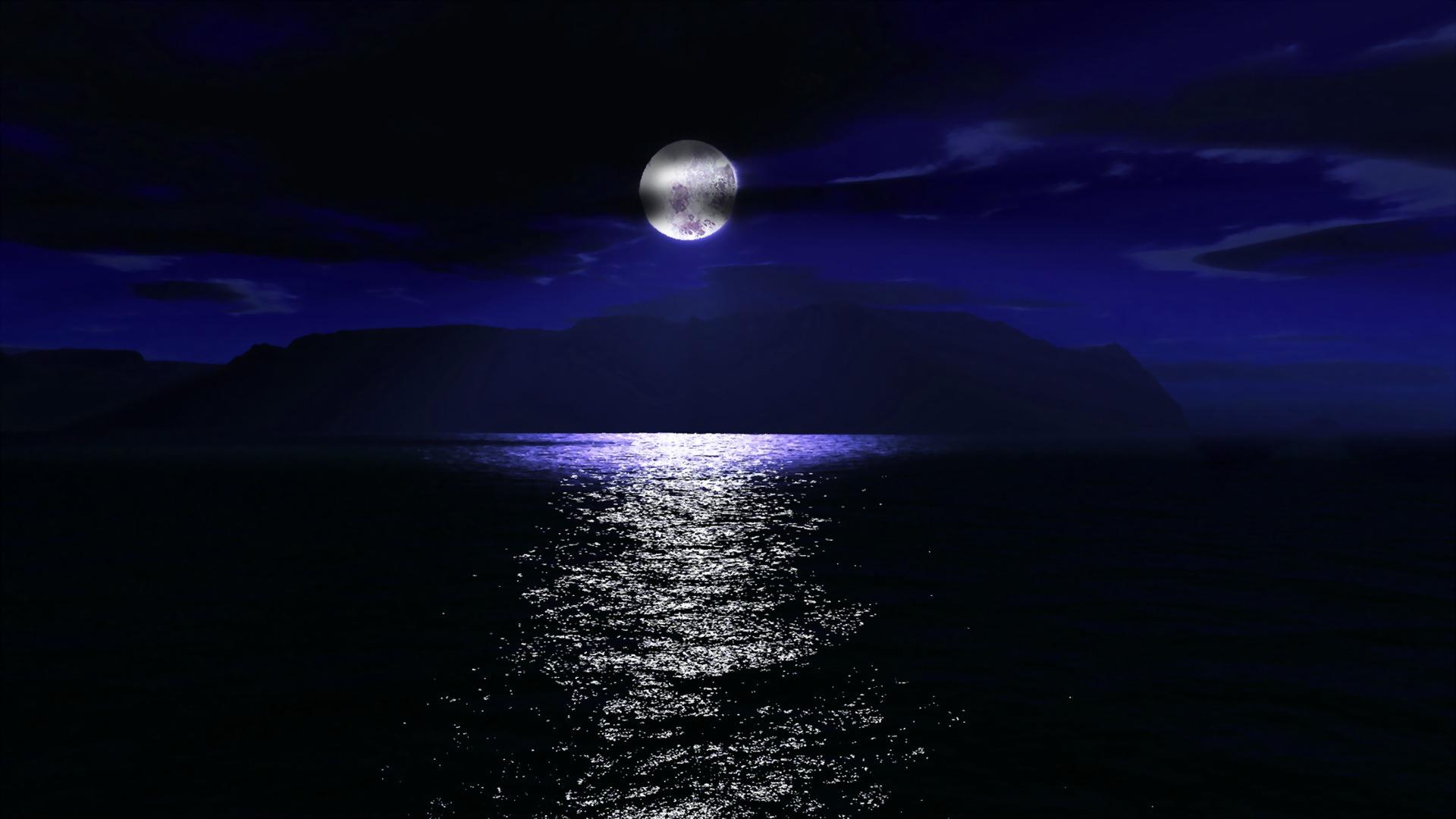 Dark Night Moon Hd Desktop Wallpaper ideal for a HP desktop PC 1920x1080
