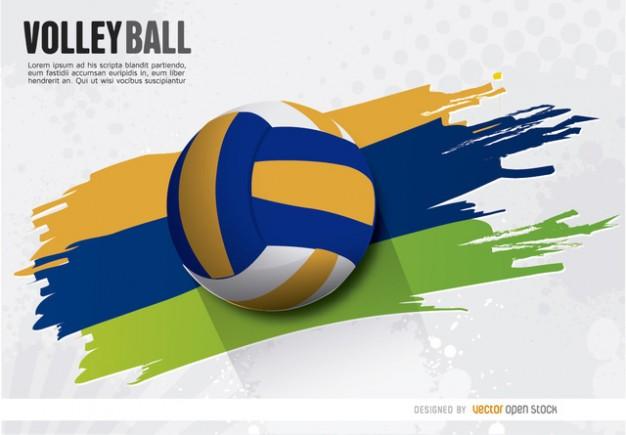 Volleyball editable wallpaper Vector Download 626x435