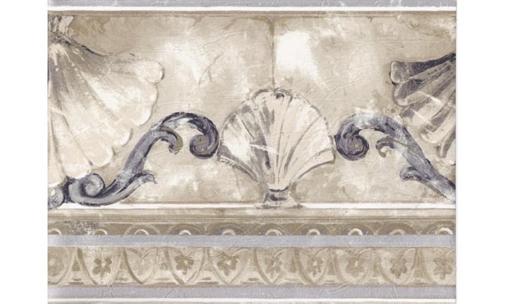 Home Silver Gold Stone Sea Shell Molding Wallpaper Border 1000x600