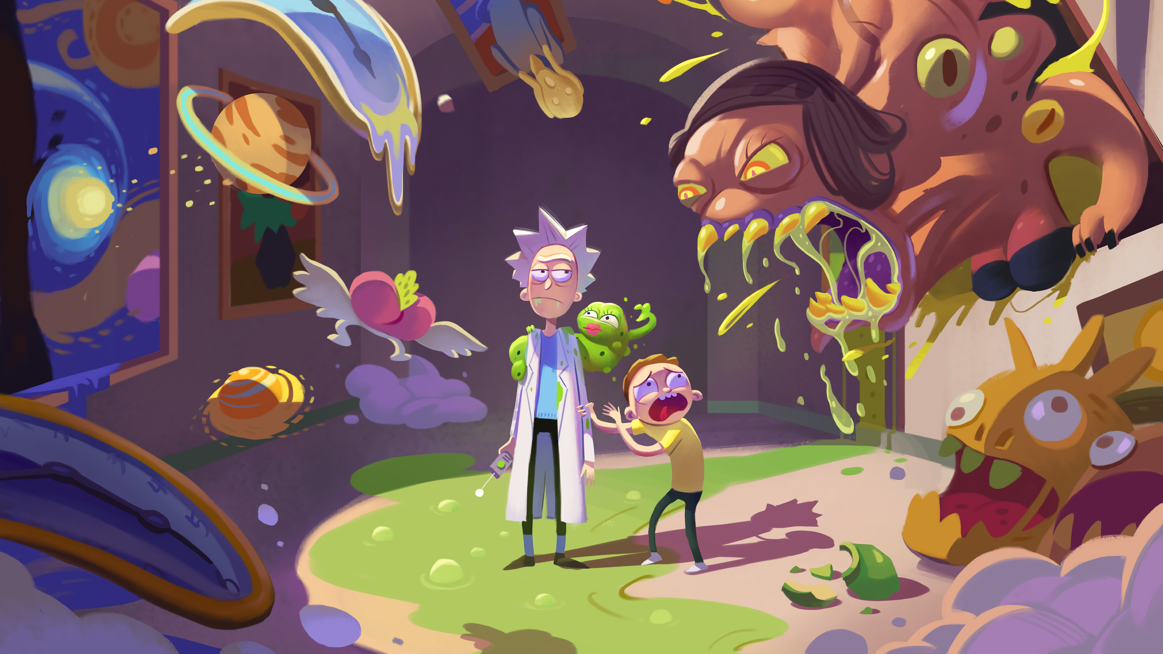 Wallpaper 4k Rick And Morty Season 4 Rick And Morty 4k wallpaper 3840x2160