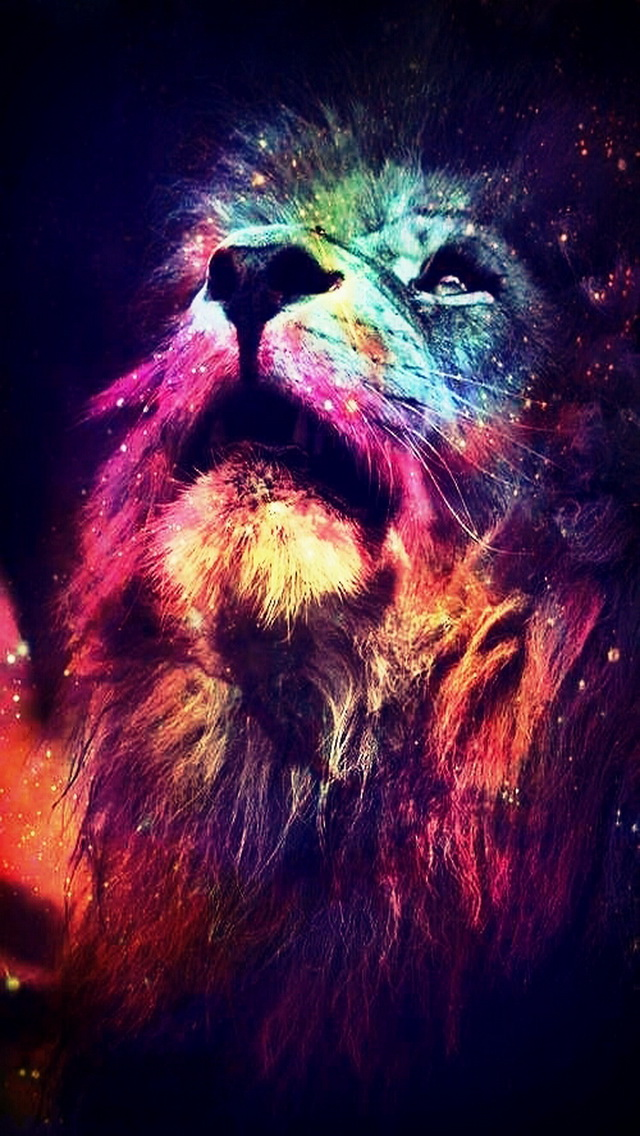Free Download Abstract Lion Iphone 5 Wallpaper 640x1136