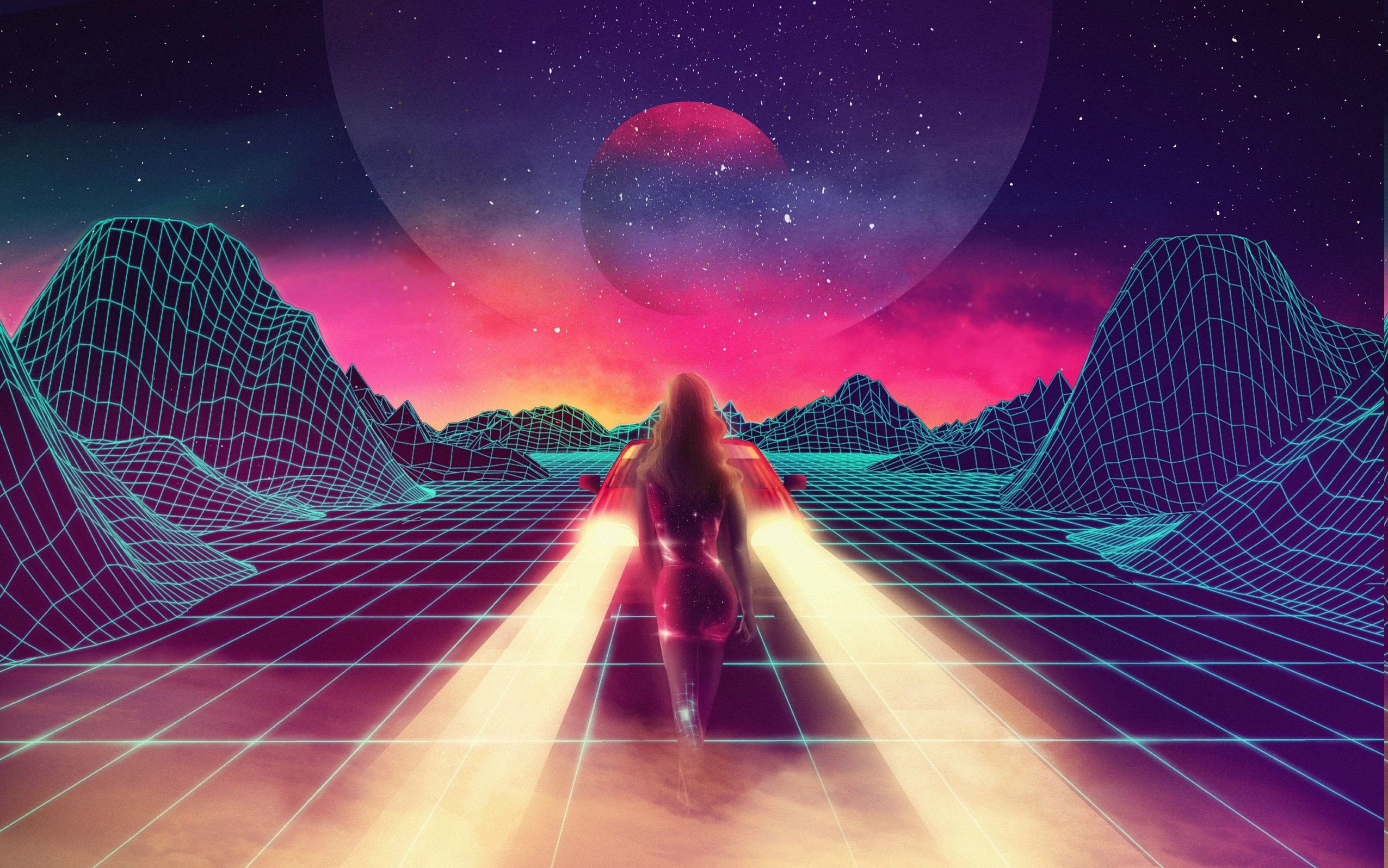 Synthwave Wallpaper Wallpapersafari HD Wallpapers Download Free Images Wallpaper [1000image.com]