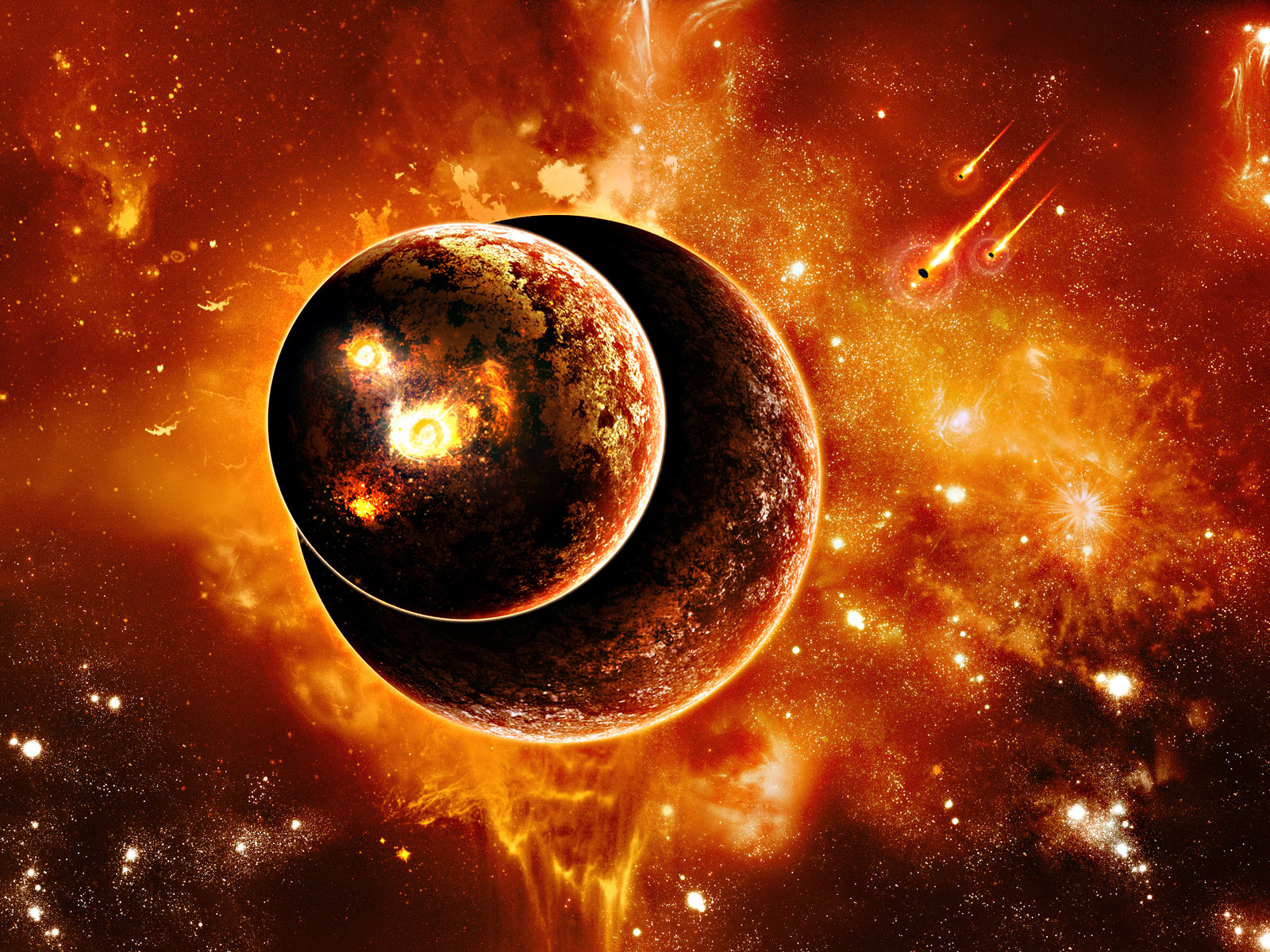 Planets Burning Wallpapers HD Wallpapers 1600x1200