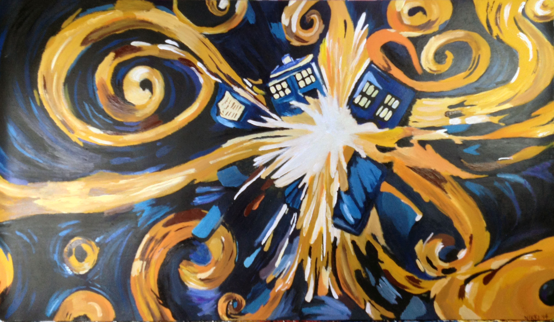 Exploding Tardis Van Gogh van gogh's exploding tardis