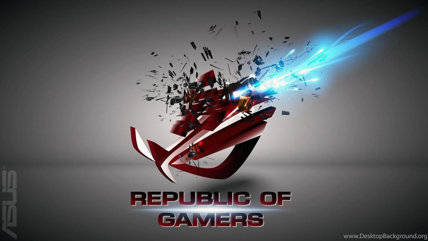 ASUS ROG Republic Of Gamers Wallpapers HD Desktop Background 1366x768