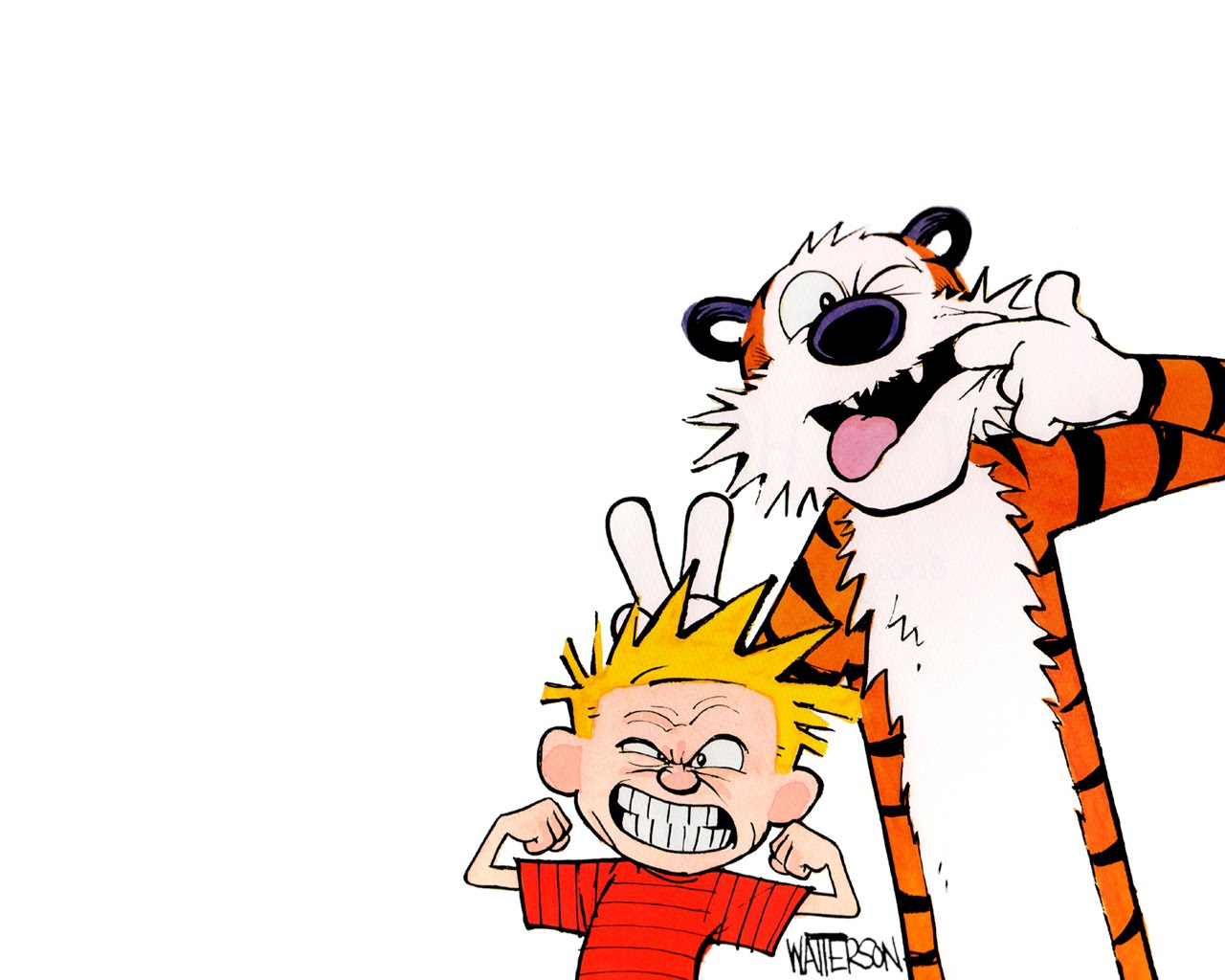 calvin and hobbes HD Wallpaper 1280x1024