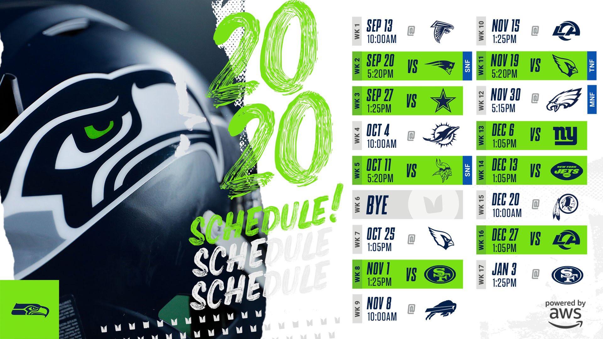 Seahawks 2020 Schedule Wallpaper   Imgur 1920x1080