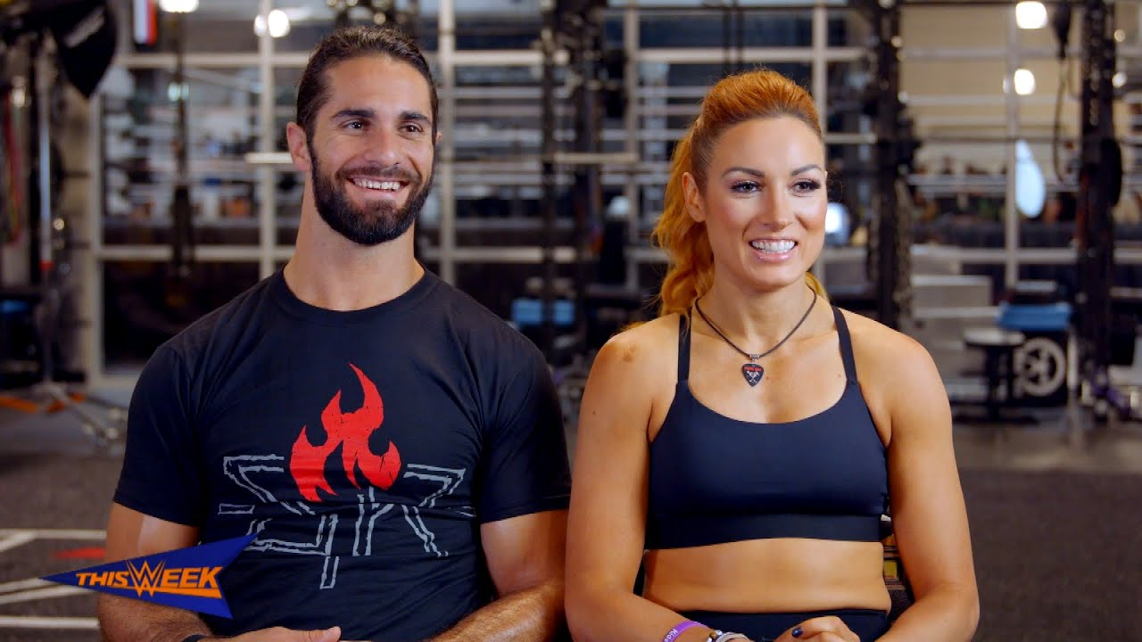 Seth Rollins and Becky Lynch are featured in Muscle Fitness 1280x720