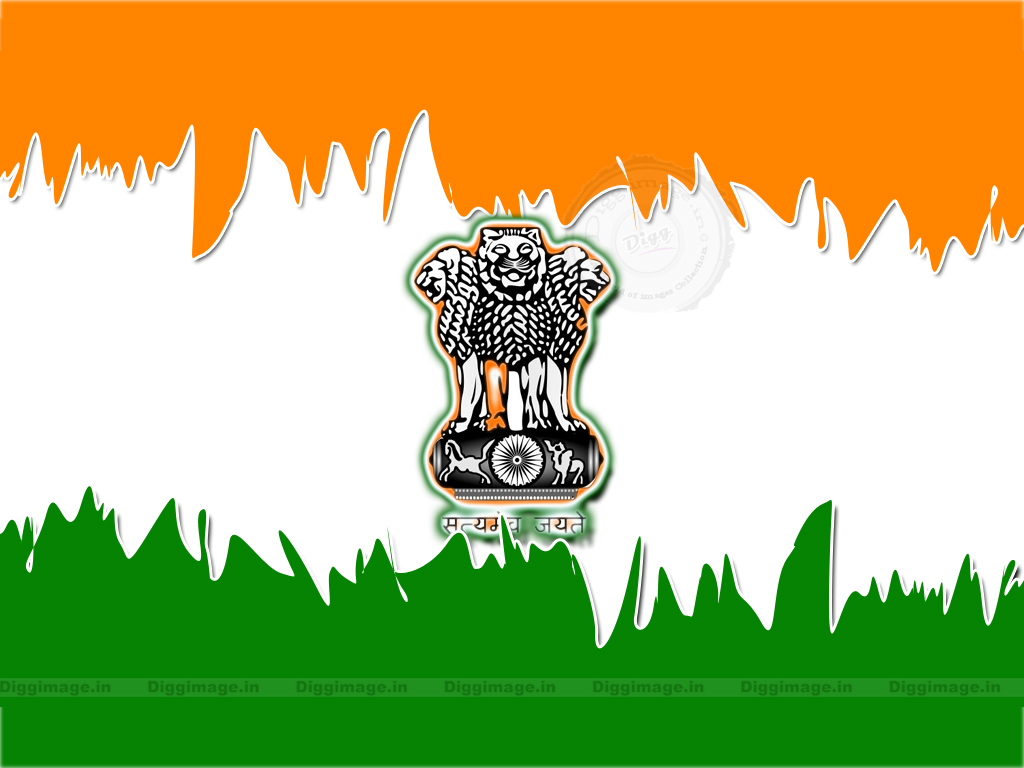 Indian flag With national emblem Pc Wallpaper D i g g I m a g e 1024x768