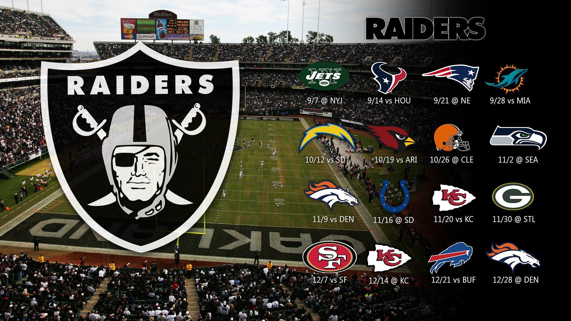 Raiders Schedule 2014 Oakland