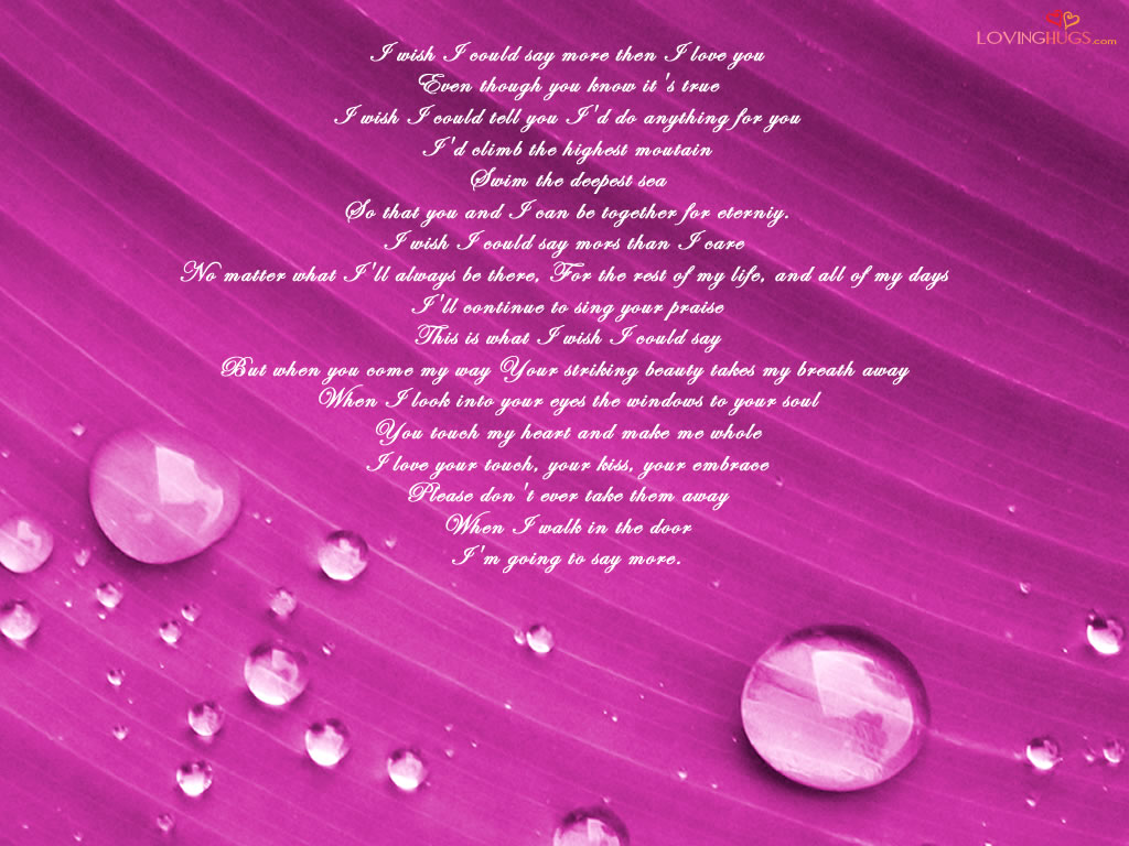 love you poem wallpaper i love you wallpapers Stock Photos 1024x768