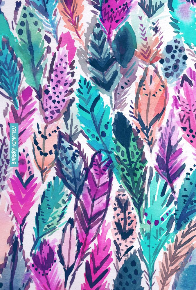 WILD FEATHERS BARBARIAN PRINTS Feather wallpaper Phone 675x997