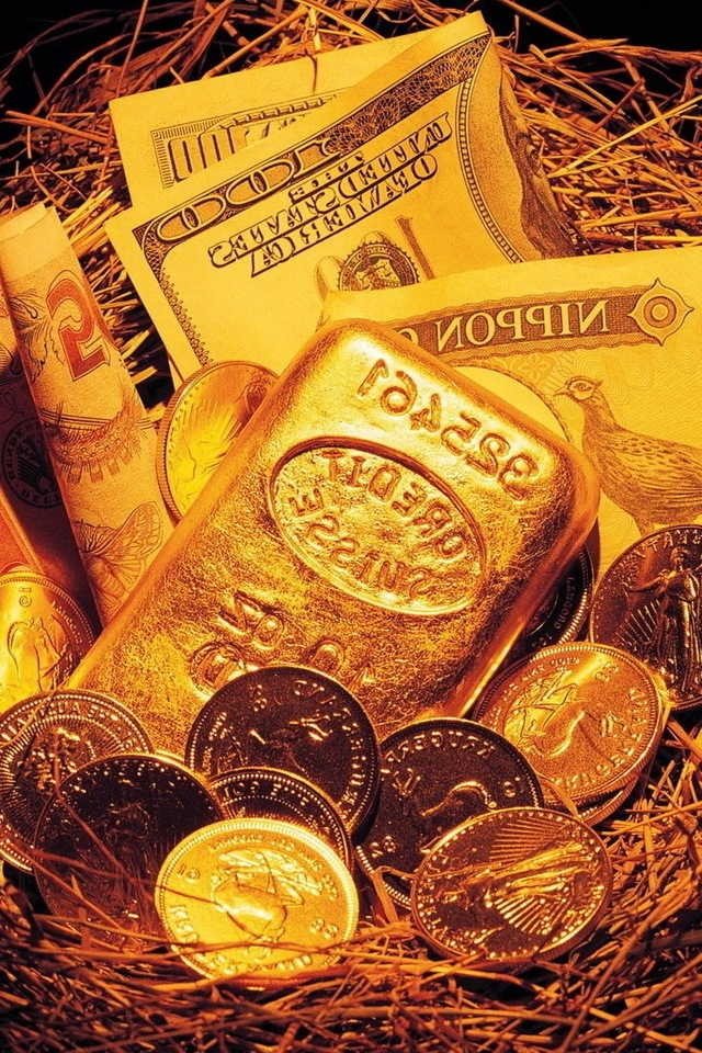 Money and gold iPhone HD Wallpaper iPhone HD Wallpaper download 640x960