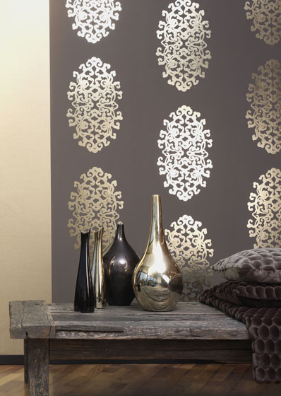 Modern Design Metallic Wallpaper Aluminium Foil Decorative 398x560