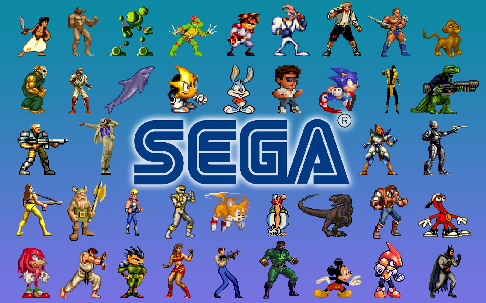 Retro Sega video gaming old school desktop wallpaper 1600x1000