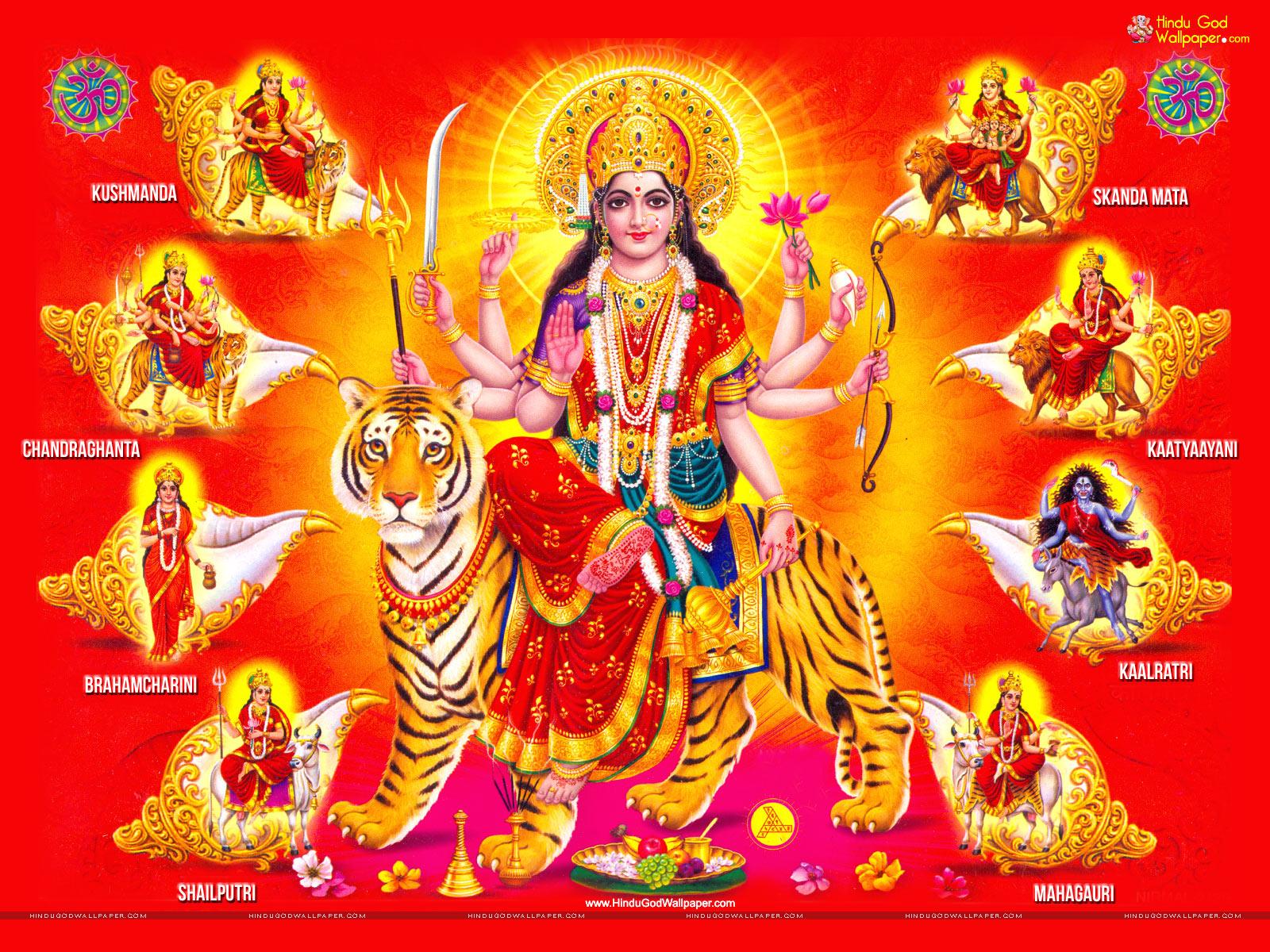Nav Durga   Maa Nav Durga HD wallpaper Download 1600x1200