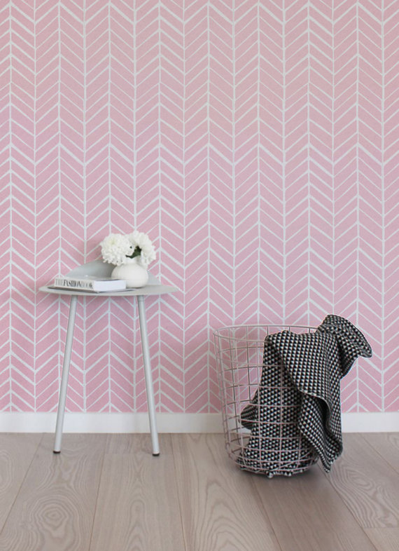 Peel and stick Self adhesive vinyl wallpaper wall decal   Herringbone 570x786