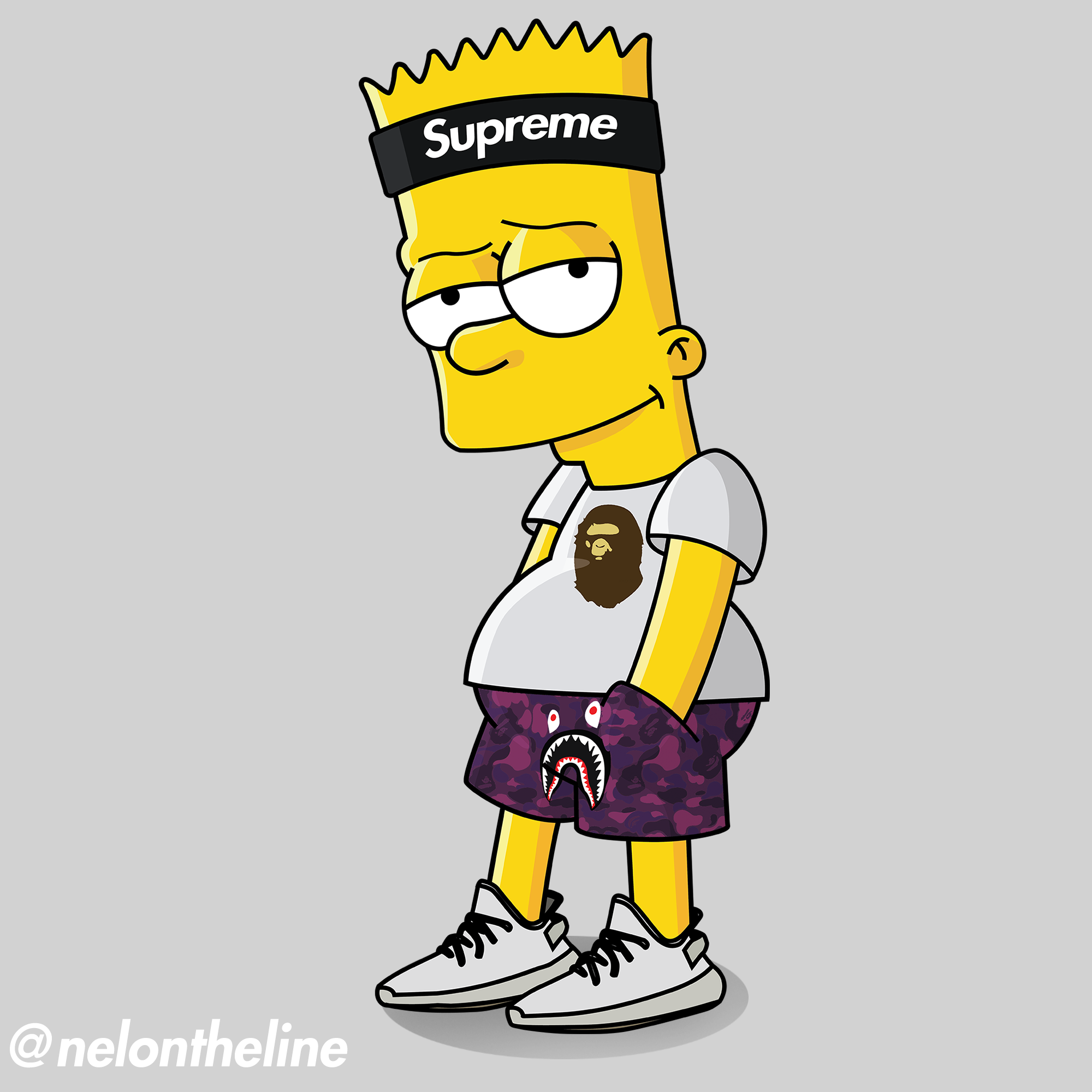 Bart Simpson Hypebeasted supreme bape yeezyboost hypebeast 2000x2000