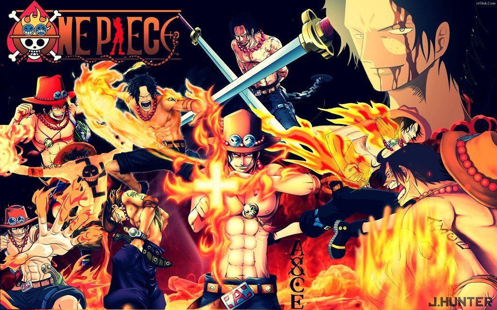 Free Download Wallpaper One Piece Ace By Jhunter By