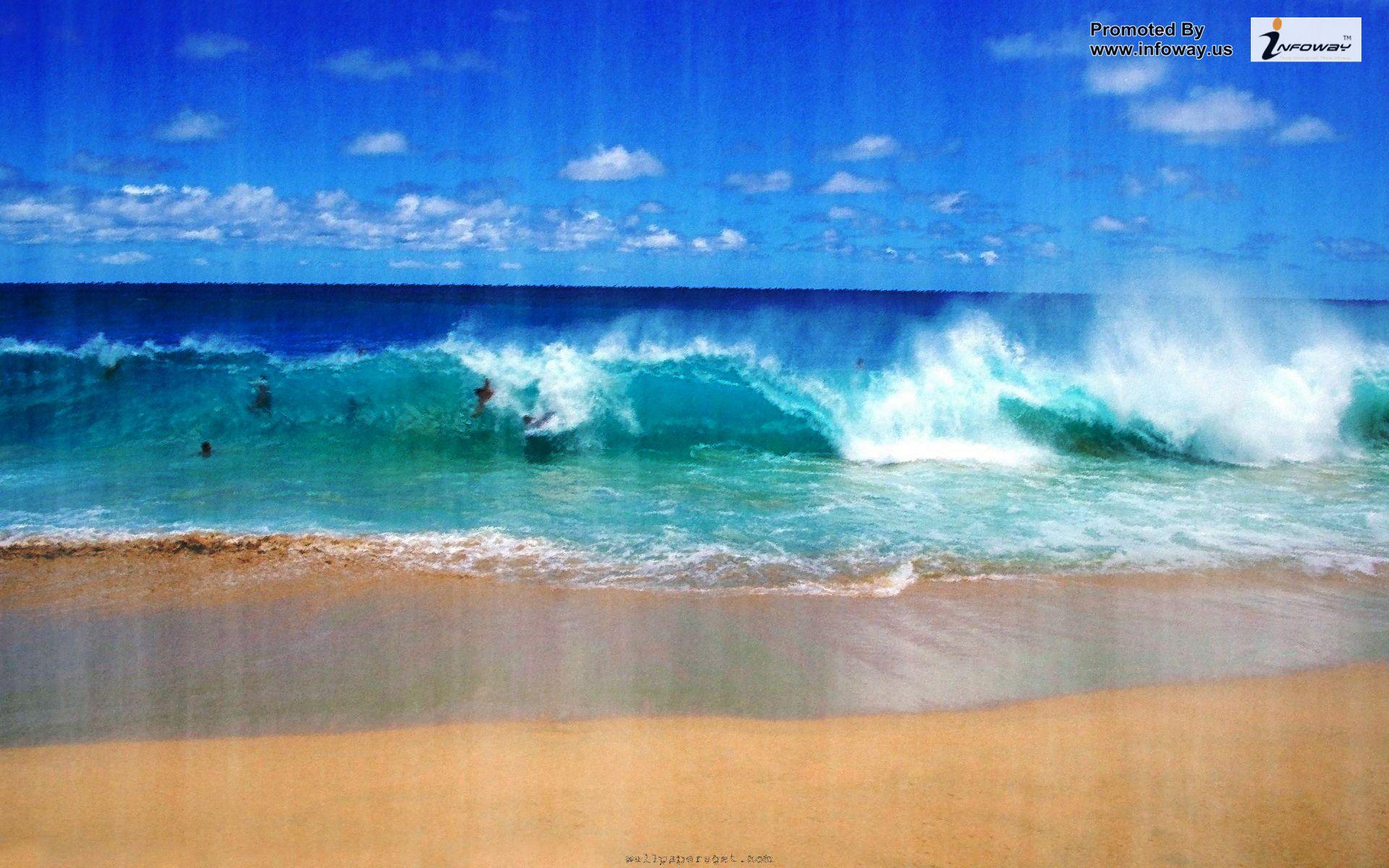 beach ocean surf swimming beautiful scenery hd wallpapers beautiful 1920x1200
