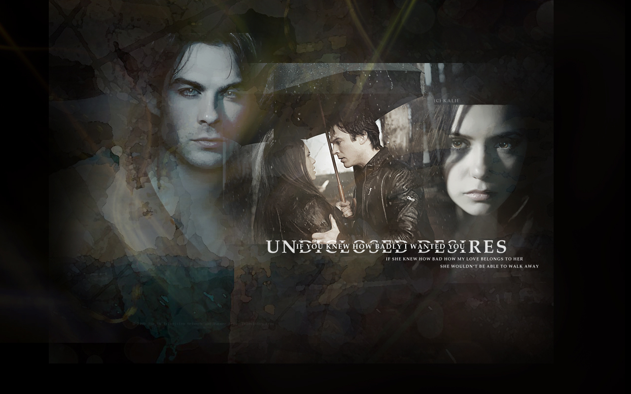 Damon Elena   The Vampire Diaries TV Show Wallpaper 11312983 1280x800
