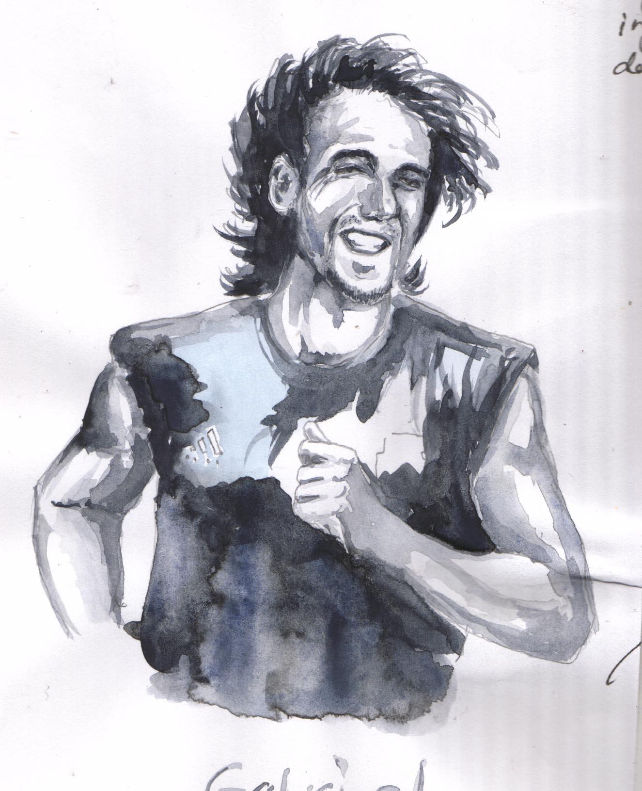 Gabriel Omar Batistuta by nazarmInflakasta on deviantART 1325x1631