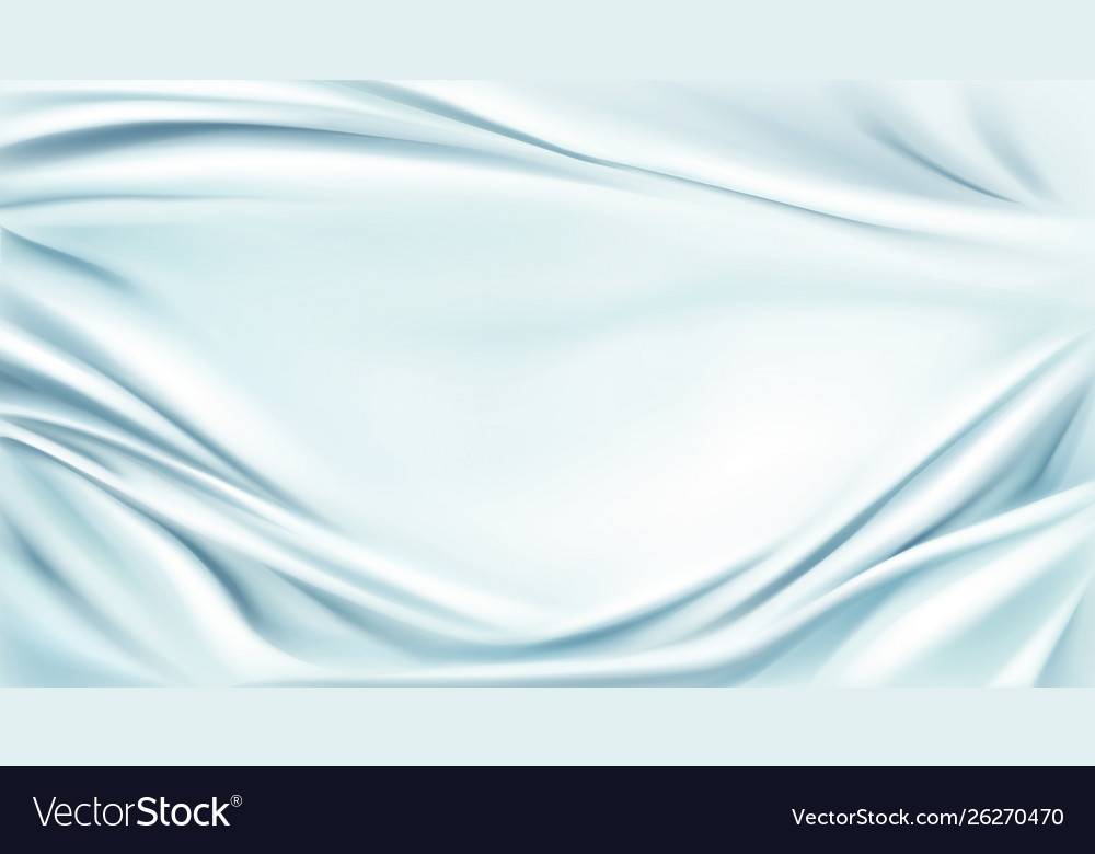 Blue silk draped fabric background textile frame Vector Image 1000x780